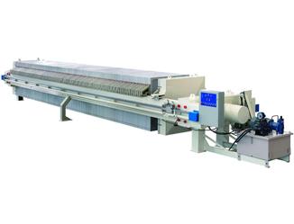 Hydraulic chamber press filter